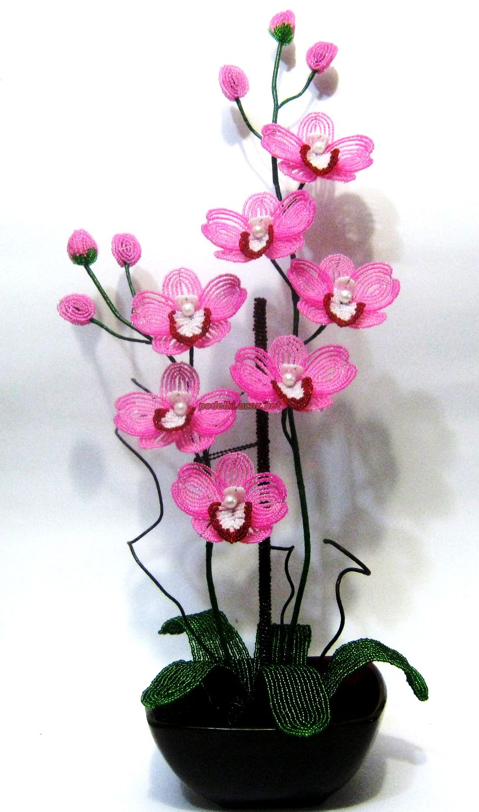 Цветы из бисера орхидеи фото